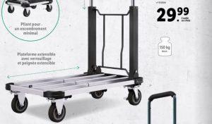 Lidl aide les déménageurs et les professionnels avec un chariot en aluminium dès ce lundi 23 août